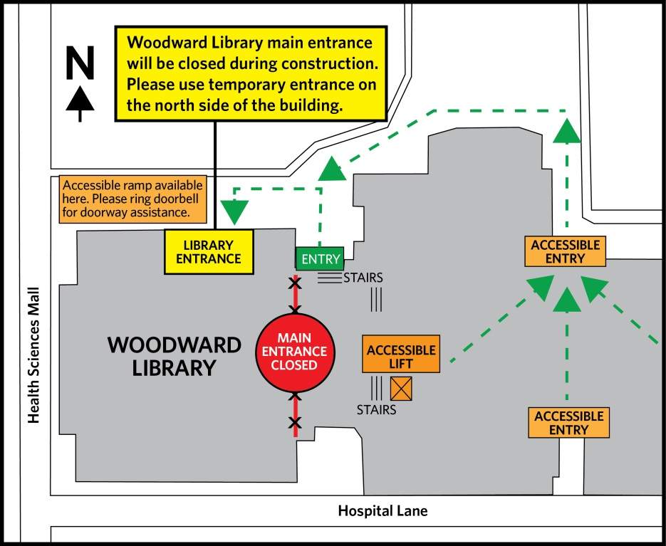 Woodward entrance map